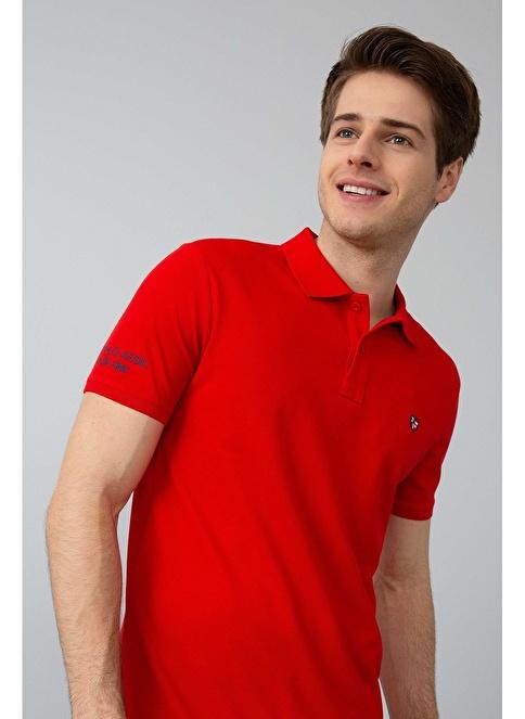 U.S. Polo Assn. Slim Fit Polo Yaka Tişört Kırmızı